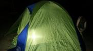 Glow at night tent