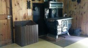 Woodstove at Spruce Lane Farmhouse