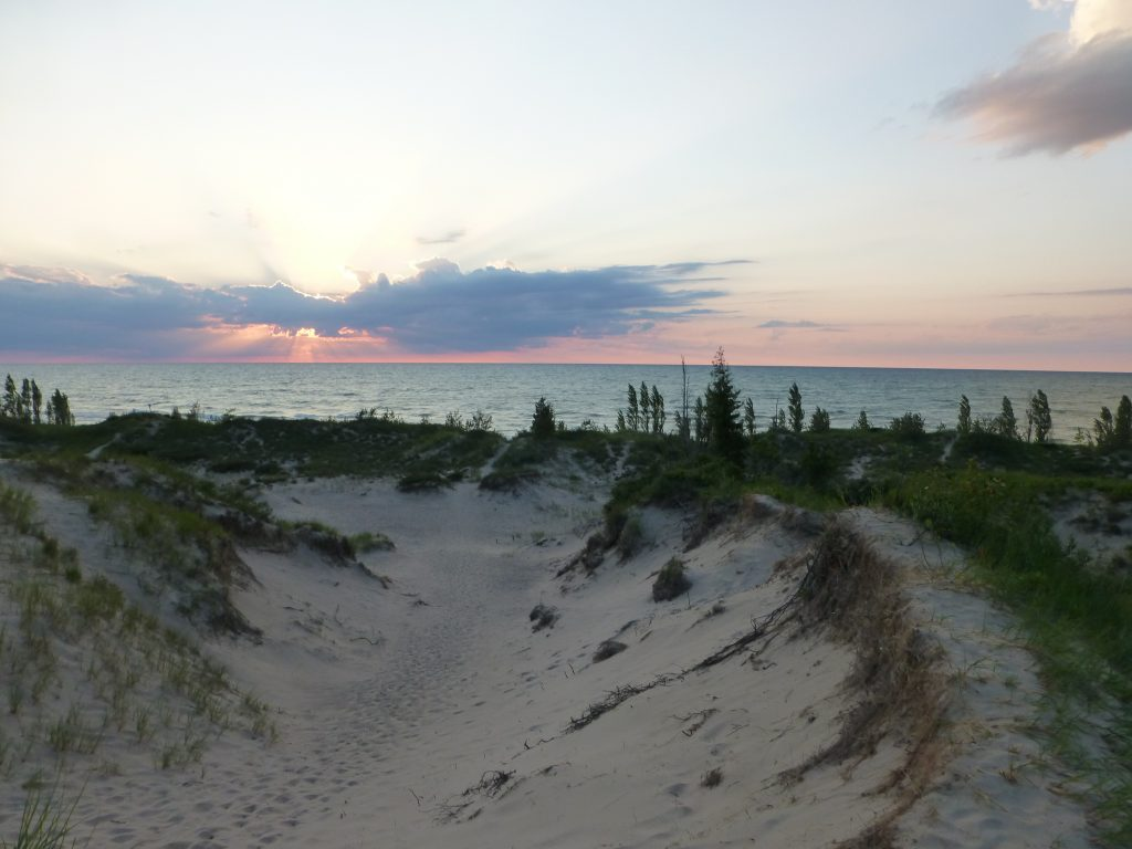 the sand dunes at Pinery Provincial Park near Grand Bend Ontario on Lake Huron