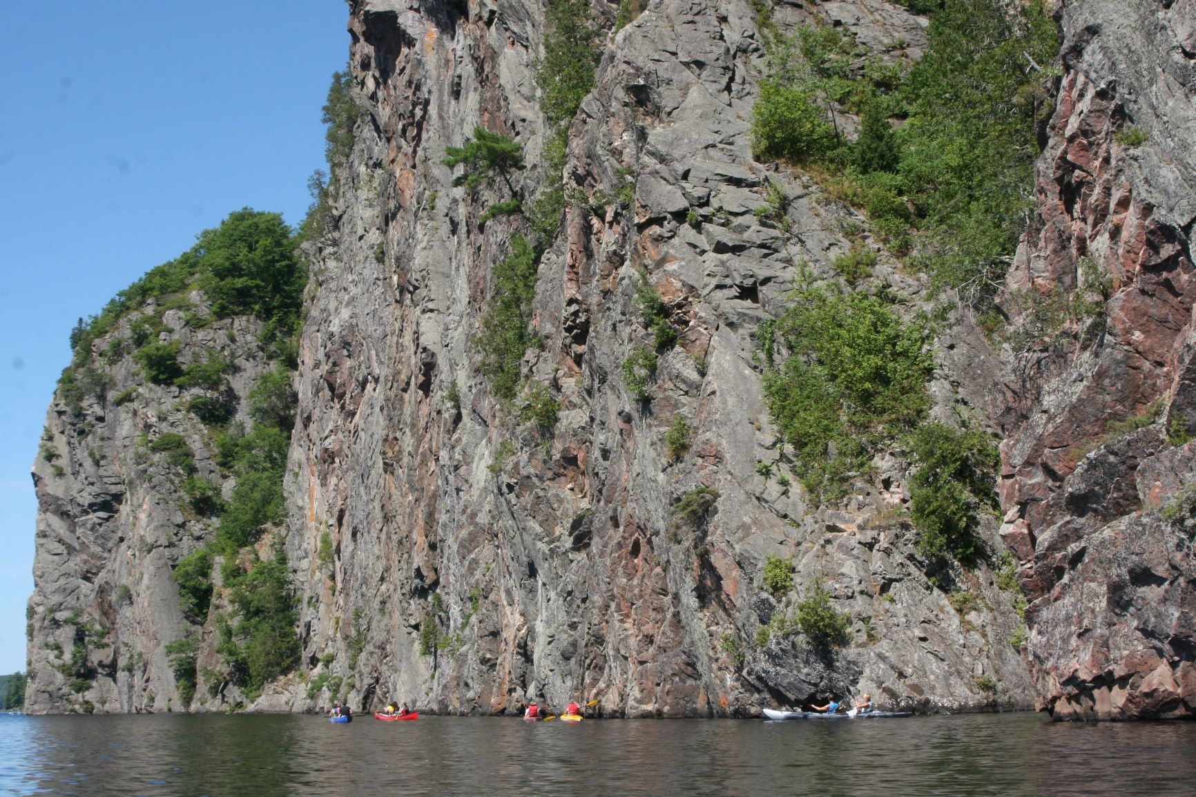 picture of Mazinaw Rock in Mazinaw Lake taken while camping at Bon Echo Provincial Park