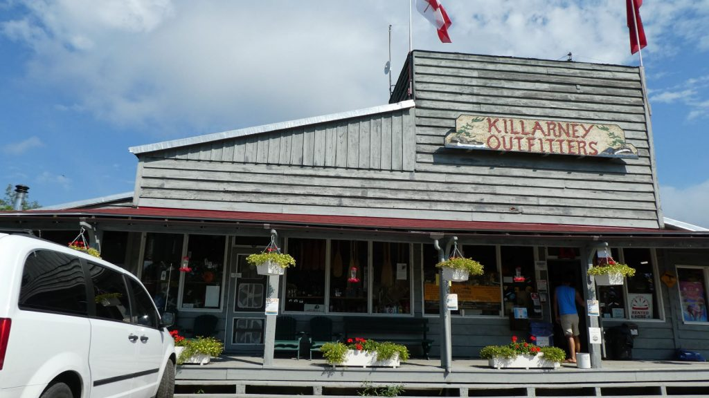 picture of the front of the store at Killarney Outfitters